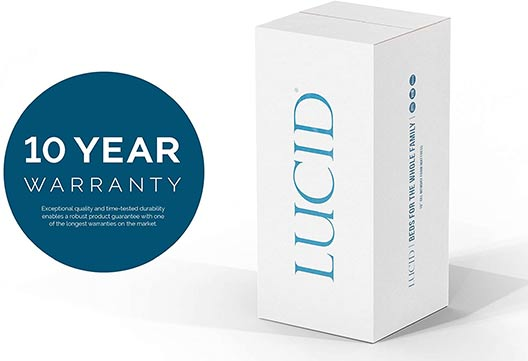 Lucid mattress 10 year warranty